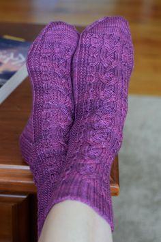 Ravelry: Interlaced Socks pattern by Jo-Anne Klim
