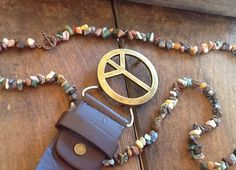 RuStiC GeMsToNe NeCkLaCe/ antiqued toggle clasp/ by Ivanwerks, $40.00
