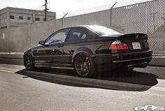 :) E46 M3, black on black. Love it.