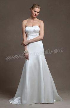 Satin Strapless Sweetheart A-line Wedding Dress