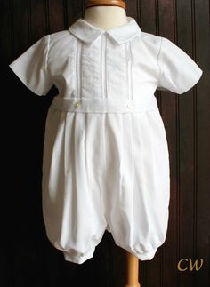 Baby Blue and white christening, baptism or special occasion outfit for boys. Just a hint of blue makes this outfit a great alternative to an all white traditional outfit. Short sleeves and long in the legs with button openings in the leg. Boy Christening Outfit, Baptism Outfit, Christening Gowns, Sailor Fashion, Special Occasion Outfits, Comfortable Outfits, Kind Mode, Traditional Outfits, Well Dressed