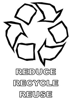 Earth Day Coloring Page Recycle Ecology Free printable and Earth