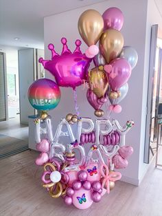 Birthday Balloon Decorations, Birthday Balloons, Balloon Columns, Balloon Garland, 1st Birthday Girls, Birthday Parties, Decoration Evenementielle, Balloon Display, Balloon Arrangements
