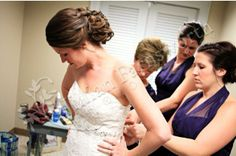 Bridal hair and makeup Classically Chic Designs by Leslie 2013.