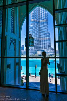Magic window in Dubai, United Emirates