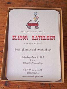 little red wagon invitations