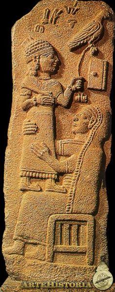 Estela funeraria de Marqasi - I Mileneo AC  Museo del Louvre