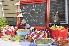 Write inspirational quotes on chalkboards around the party. | 31 Grad Party Ideas You'll Want To Steal Immediately