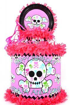 Girly Skull Personalized Pinata