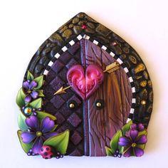 Cupid Valentine Fairy Door Pixie Portal by Claybykim on Etsy