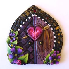 Cupid Valentine Fairy Door Pixie Portal by Claybykim on Etsy