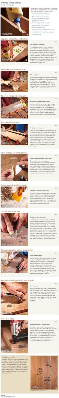 Top 10 gluing tips