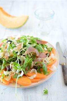 Chic, chic, chocolat...: Salade de melon, jambon de pays et parmesan