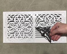 This ReVent Covers-Decorative Magnetic Wall Vent Covers is just one of the custom, handmade pieces you'll find in our shapes shops. Wall Vent Covers, Vent Covers Decorative, Floor Vent Covers, Return Air Vent, Cabin In The Woods, Magnetic Wall, White Vinyl, Metal Walls, Wall Colors