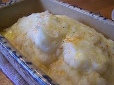 Cream Cheese mashed potatoes in the oven