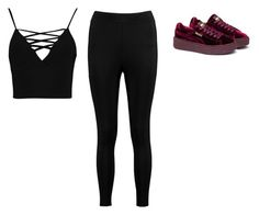 """""""Untitled #295"""" by wrigannabelle on Polyvore featuring Puma and Boohoo"""