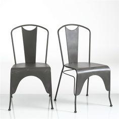 Chaise acier laqué (lot de 2), Hiba La Redoute Interieurs : prix, avis & notation, livraison. La chaise acier laqué (lot de 2), Hiba. Inspirée du mobilier industriel, cette chaise Hiba allie style et robustesse. Caractéristiques de la chaise acier, Hiba :En acier laqué matFinition peinture époxyVendue par lot de 2 de même colorisRetrouvez toute la collection Hiba sur laredoute.fr.Dimensions de la chaise acier vieilli, Hiba :Largeur : 51 cmHauteur : 90 cmProfondeur : 55 cmAssise : L43.50 x…