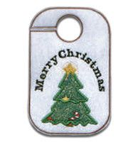 "This free embroidery design is a ""Merry Christmas Tree"".   Thanks to Oregon Patch Works for making it available."