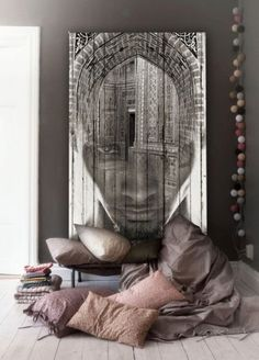 XXXL artwork for your home! This is an often neglected, yet wonderful way of creating a modern space✔️call us to make your home a more exciting space! esig n African Interior, African Home Decor, Interior Pastel, Ethno Design, Wall Murals, Wall Art, Interior Decorating, Interior Design, Deco Design