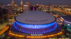 New Orleans The Mercedes-Benz Superdome in New Orleans is the home field of the Saints. Built in 1975, the 73,200-capacity stadium was designed by the locally based firm Curtis and Davis Architects.