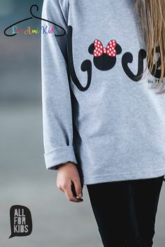 """☼ AWESOME grey MINNIE """"LOVE"""" sweatshirt ☼ ☼ £10.99 / €14 ☼ ☼ sizes: 1-2y(92-98cm) ☼  🌈 please order from https://fb.me/laamikids 🌈 Paypal or bank transfer accepted  please follow us on:  Facebook: https://fb.me/laamikids  Instagram: https://www.instagram.com/la_ami_kids/  Pinterest: https://www.pinterest.com/laamikids/"""