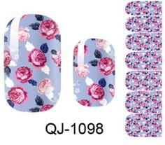 1-Sets Good Popular Fashion Hot Nails Art Stickers Water Transfer DIY Manicure Decoration Foils Color Style QJ-1098 * Click image for more details.