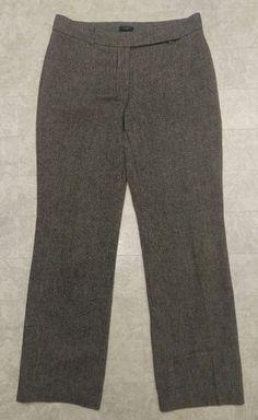 Womens $148 Ann Taylor Curvy Tweed Wool Career Dress pants trouser 8 or 33x31.5 #AnnTaylor #DressPants