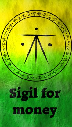 Witchcraft & Symbols: Magick Sigil for money Wiccan Symbols, Magic Symbols, Chakra Symbole, Wiccan Spell Book, Witch Board, Magick Spells, Money Spells, Book Of Shadows, Occult
