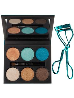 Lancome Color Design 6-Pan Eye Shadow Palette in Aquatic Essence and Le Curler in Aqua