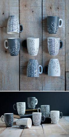 Bemalte Tassen
