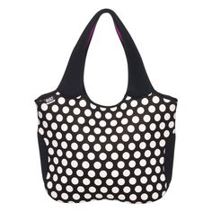 This Essential Tote is a modern take on the traditional tote, with a fresh take on the classic polka dot - with a vibrant splash of color on the interior.  Features long,...