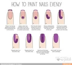 How To Paint Nails Evenly!!! #Fashion #Beauty #Trusper #Tip
