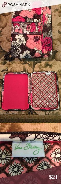 Vera Bradley Tablet Case Brand new condition with an extra pocket in front. Very sturdy and protective! Vera Bradley Accessories Tablet Cases