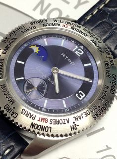 WWS series with genuine leather strap available at www.atoptimezone.co.uk
