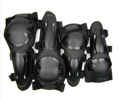 BMX Protective Gear - New Adult Anatomical Protective Gear Hard Shell Knee Elbows Guards Body Armor Set Elbow and Knee Pads w Adjustable Elastic Strap for Mountain Motobike Professional Motorcycle Motocross Racing Motor Rider Guards Extreme Sports Camber One Size ** Continue to the product at the image link.