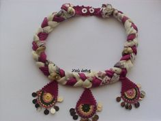 Beaded Necklace  Beaded Crochet Neckalce  Knotted by NAZLIPAGES