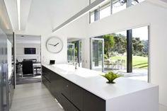 #kitchen #black #white #openspace