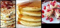 Συνταγή για αφράτα Pancakes (Τηγανίτες)! | ediva.gr Tasty, Yummy Food, Greek Recipes, Donuts, Food Processor Recipes, Pancakes, Health Fitness, Food And Drink, Cooking Recipes