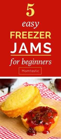 These five freezer jam recipes are so EASY, and you simply must make them while all the delicious fruit is at the end of season. Freezer jam is the best because it doesn't take any canning skills to make. Usually you can just crush the fruit, add in the sugar and pectin, and then put it in some jars. That's it.