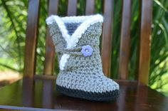 Crocheted Boots for baby girl sizes Newborn by CrochetedbyCourtney, $20.00