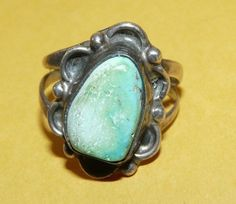 ~VTG~NATIVE~NAVAJO~OLD PAWN~STERLING~SILVER~TURQUOISE~ORNATE~DESIGN~RING~SIZE 7~ | Jewelry & Watches, Ethnic, Regional & Tribal, Native American | eBay!