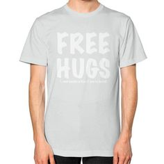 Free Hugs Unisex T-Shirt (on man)