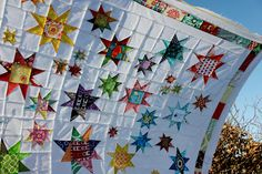 Star Gazer Quilt.  King size...in shades of sand, water, and sea glass...would be an amazing quilt for our bed.