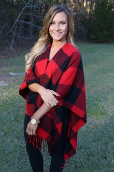 Soon Enough Wrap: Red/Black - Off the Racks Boutique