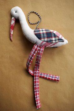 Cigogne en kelsch alsacien - modèle Nanou Rouge de la boutique Wayome sur Etsy