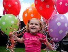 15 poLka dOt paRty balloon  //latex balloon by PomPomDelightNmore