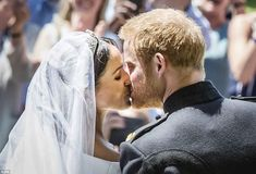 Meghan Markle has married Prince Harry in a moving service that saw the newlyweds sharing tears, laughter and a passionate kiss in front of their thousands of adoring guests #meghanmarkle #princeharry