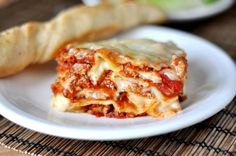 Get the recipe for this classic Italian lasagna with a homemade, creamy, rich white sauce in lieu of ricotta cheese. This lasagna is absolutely amazing!