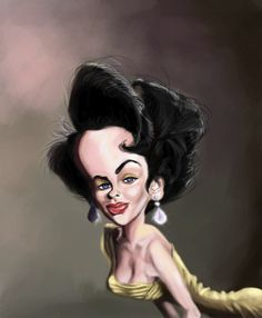 TOONPOOL Cartoons - Liz Taylor by doodleart, tagged celebrity, actress, liz, taylor - Category Famous People - rated / Funny Caricatures, Celebrity Caricatures, Cartoon Faces, Funny Faces, Cartoon Characters, Funny Pictures Of Women, Hulk Art, Caricature Drawing, Funny Illustration