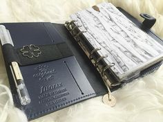 Lovely navy Filofax original